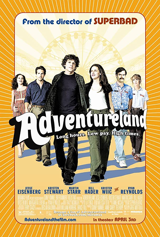 Ryan Reynolds, Jesse Eisenberg, Bill Hader, Kristen Stewart, Kristen Wiig, and Margarita Levieva in Adventureland (2009)