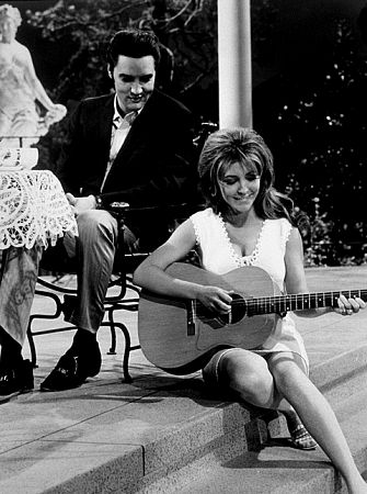 "Elvis Presley and Michele Carey in ""Live a Little, Love a Little,"" MGM, 1968."