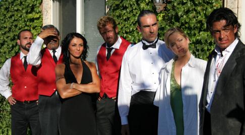 Fernando Colunga, Ruben Garfias, Ivonne Montero, Gabriel Soto, Oscar Torre, Miguel Varoni, and Julie Gonzalo in Ladrón que roba a ladrón (2007)