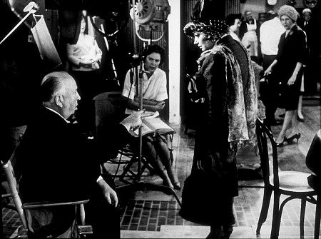 """""""Torn Curtain,"""" Director Alfred Hitchcock on set. 1966 Universal."""