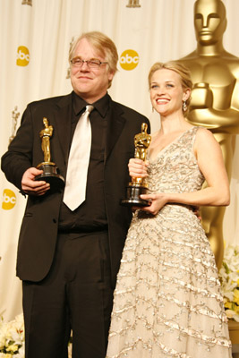 Philip Seymour Hoffman And Reese Witherspoon At An Event For The 78th Annual Academy Awards