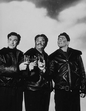 "Ronald Reagan, Alan Hale and Errol Flynn in ""Desperate Journey"" 1942 Warner Bros."