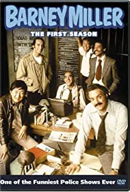 Abe Vigoda, Max Gail, Ron Glass, Hal Linden, Gregory Sierra, and Jack Soo in Barney Miller (1975)