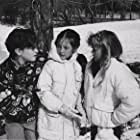 "Johnny Galecki, Rebecca Harrell and Ariana Richards on the set of ""Prancer""."