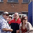 Director Alex Proyas, Russell Dysktra, Maya Stange and Kick Gurry on the set of GARAGE DAYS.