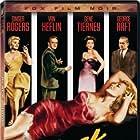 Gene Tierney, Van Heflin, Ginger Rogers, and George Raft in Black Widow (1954)