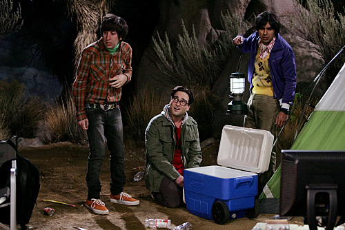 Johnny Galecki, Simon Helberg, and Kunal Nayyar in The Big Bang Theory (2007)