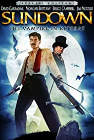 David Carradine and Bruce Campbell in Sundown: The Vampire in Retreat (1989)