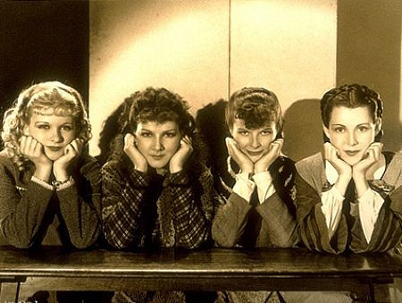 """1545-2 Katharine Hepburn, Joan Bennett, Frances Dee, Jean Parker in """"Little Women"""" 1933 RKO"""