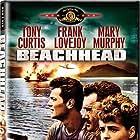 Tony Curtis, Frank Lovejoy, and Mary Murphy in Beachhead (1954)