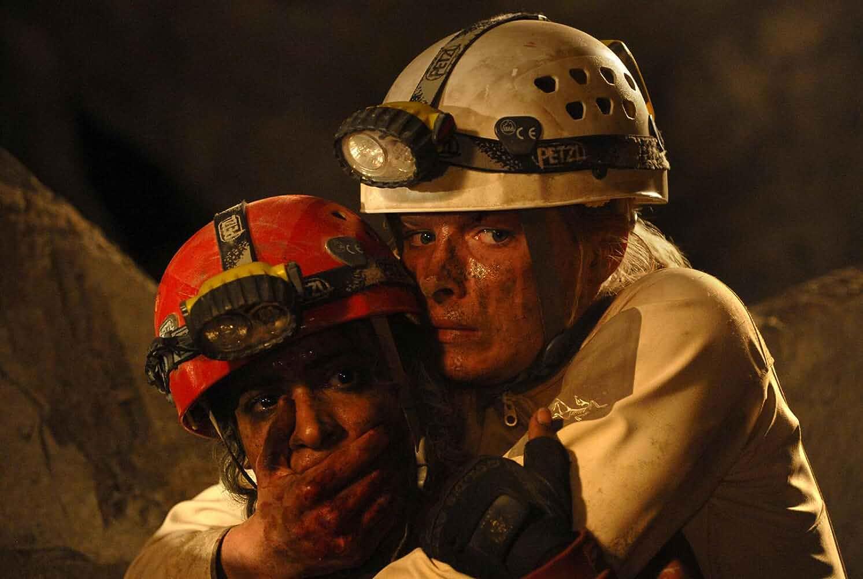 Shauna Macdonald and Krysten Cummings in The Descent: Part 2 (2009)
