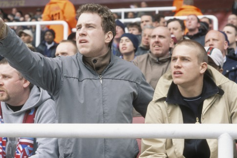 Charlie Hunnam and Rafe Spall in Hooligans (2005)