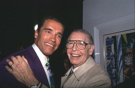 Arnold Schwarzenegger  Milton Berle 1991