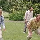 "Owen Wilson, John G. Pavelec, and Vince Vaughn in football game scene from ""Wedding Crashers"""