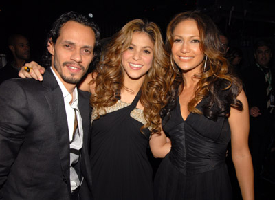 Jennifer Lopez, Marc Anthony, and Shakira at an event for The 48th Annual Grammy Awards (2006)