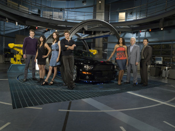 Bruce Davison, Yancey Arias, Sydney Tamiia Poitier, Paul Campbell, Justin Bruening, Deanna Russo, and Smith Cho in Knight Rider (2008)