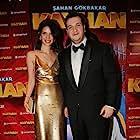 Sahan Gökbakar and Selin Ortaçli at an event for Kayhan (2018)