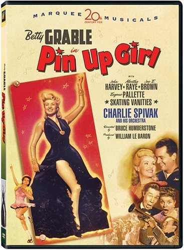 Betty Grable, Joe E. Brown, Martha Raye, Charlie Spivak, and John Harvey in Pin Up Girl (1944)