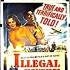 Howard Duff and Märta Torén in Illegal Entry (1949)