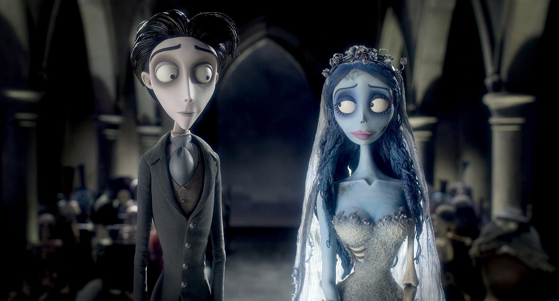 Johnny Depp and Helena Bonham Carter in Corpse Bride (2005)