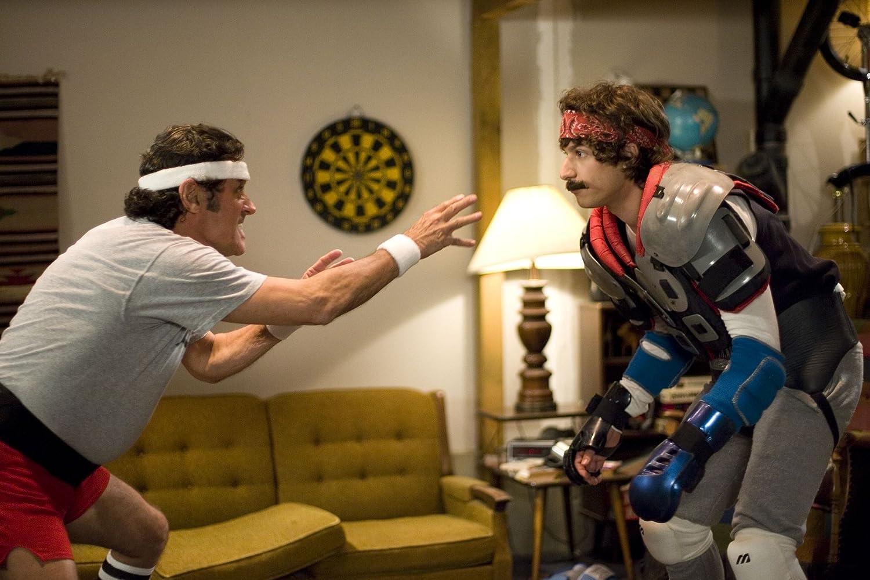 Ian McShane and Andy Samberg in Hot Rod (2007)