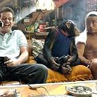 Allen Covert, Peter Dante, and Harry The Chimp in Grandma's Boy (2006)