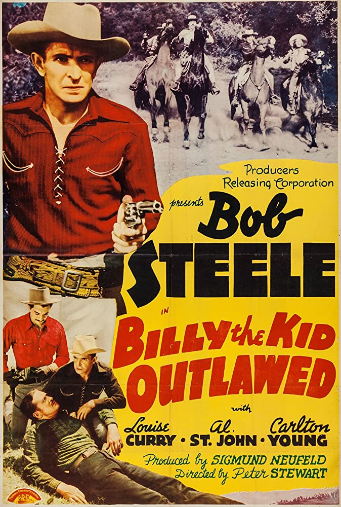 Walter McGrail, Al St. John, Bob Steele, and Carleton Young in Billy the Kid Outlawed (1940)