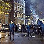Jessica Alba, Michael Chiklis, Chris Evans, and Ioan Gruffudd in Fantastic Four (2005)