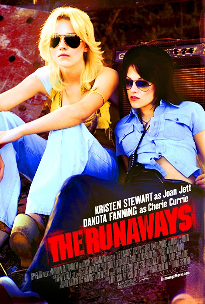 Dakota Fanning and Kristen Stewart in The Runaways (2010)