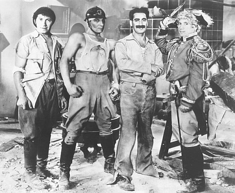 Groucho Marx Chico Marx Harpo Marx Zeppo Marx and The Marx Brothers in Duck Soup 1933