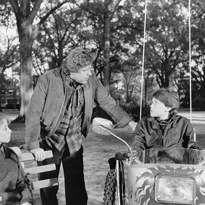 Corey Haim, Gary Busey, and Megan Follows in Silver Bullet (1985)