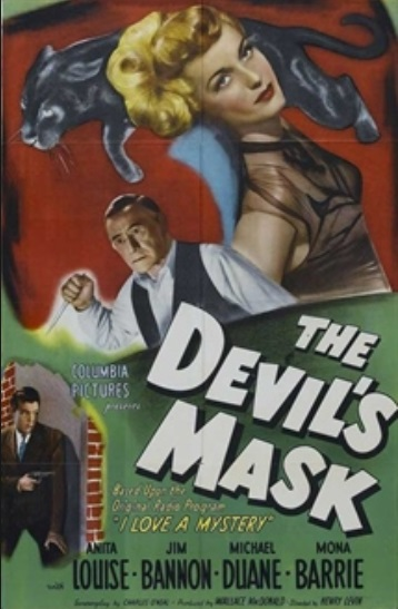 Ludwig Donath, Michael Duane, and Anita Louise in The Devil's Mask (1946)