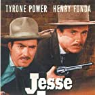 Henry Fonda and Tyrone Power in Jesse James (1939)