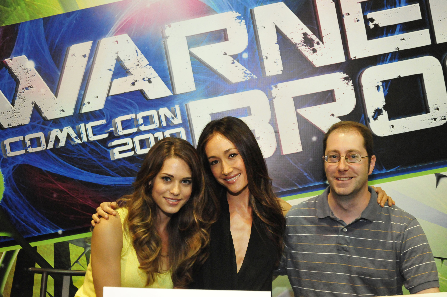Maggie Q, Craig Silverstein, and Lyndsy Fonseca at an event for Nikita (2010)