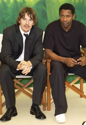 Ethan Hawke and Denzel Washington at an event for Training Day (2001)
