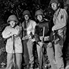 """""""Hell Is for Heroes"""" Bobby Darin, Steve McQueen, Nick Adams, Fess Parker 1962 Paramount Pictures"""