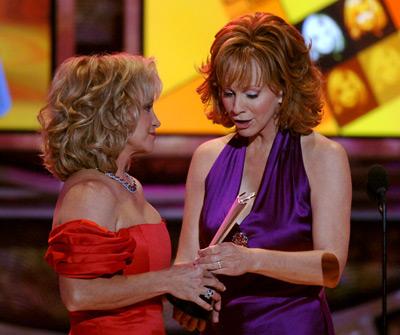 Barbara Mandrell and Reba McEntire