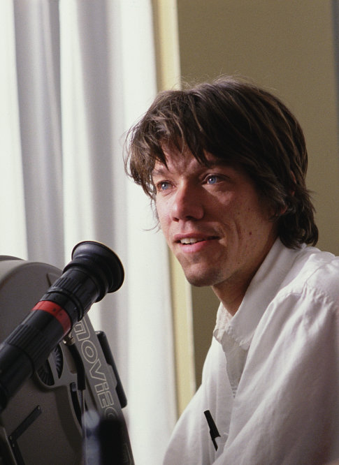 "Stephen Gaghan on the set of ""Abandon."""