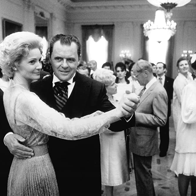 Anthony Hopkins and Joan Allen in Nixon (1995)