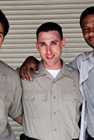From Left: Michael Bergin, Paul J. Alessi and David Ramsey on the set of Central Booking, Directed by Alex Ranarivelo.