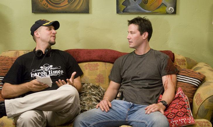 Keanu Reeves and David Ayer in Street Kings (2008)