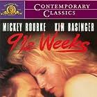 Kim Basinger and Mickey Rourke in Nine 1/2 Weeks (1986)