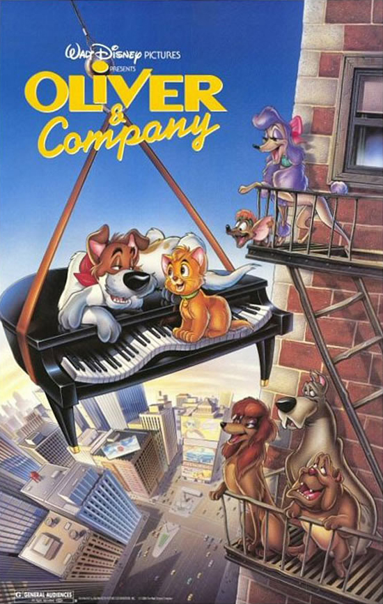 Oliver & Company (1988) Dual Audio 720p BluRay x264 [Hindi – English] ESubs