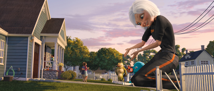 Reese Witherspoon, Jeffrey Tambor, Will Arnett, Hugh Laurie, Seth Rogen, and Julie White in Monsters vs. Aliens (2009)