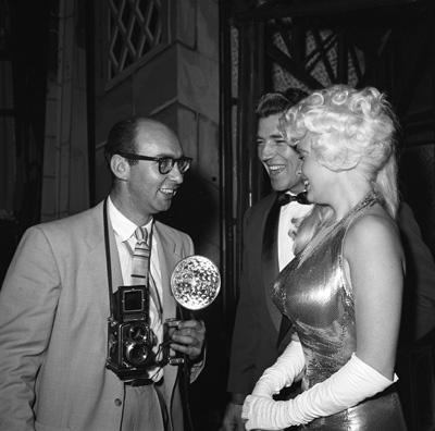 Photographer Bernie Abramson with Mickey Hargitay and Jayne Mansfield circa 1960s