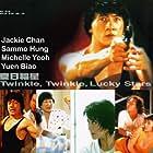 Jackie Chan, Michelle Yeoh, Sammo Kam-Bo Hung, Rosamund Kwan, and John Sham in Xia ri fu xing (1985)