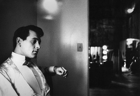 """Rock Hudson on the set of """"One Desire,"""" 1954. Modern silver gelatin, 9.5x12, signed. $750 © 1978 Bob Willoughby MPTV"""