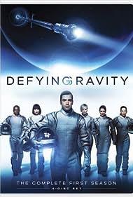 Christina Cox, Paula Garcés, Laura Harris, Ron Livingston, Maxim Roy, and Malik Yoba in Defying Gravity (2009)