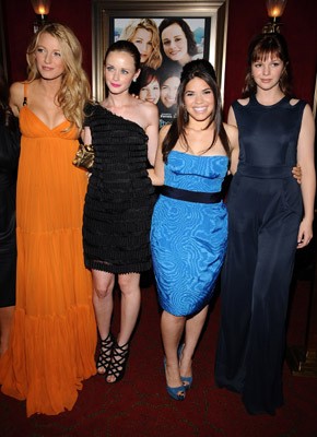 Alexis Bledel, Blake Lively, Amber Tamblyn, and America Ferrera at an event for The Sisterhood of the Traveling Pants 2 (2008)