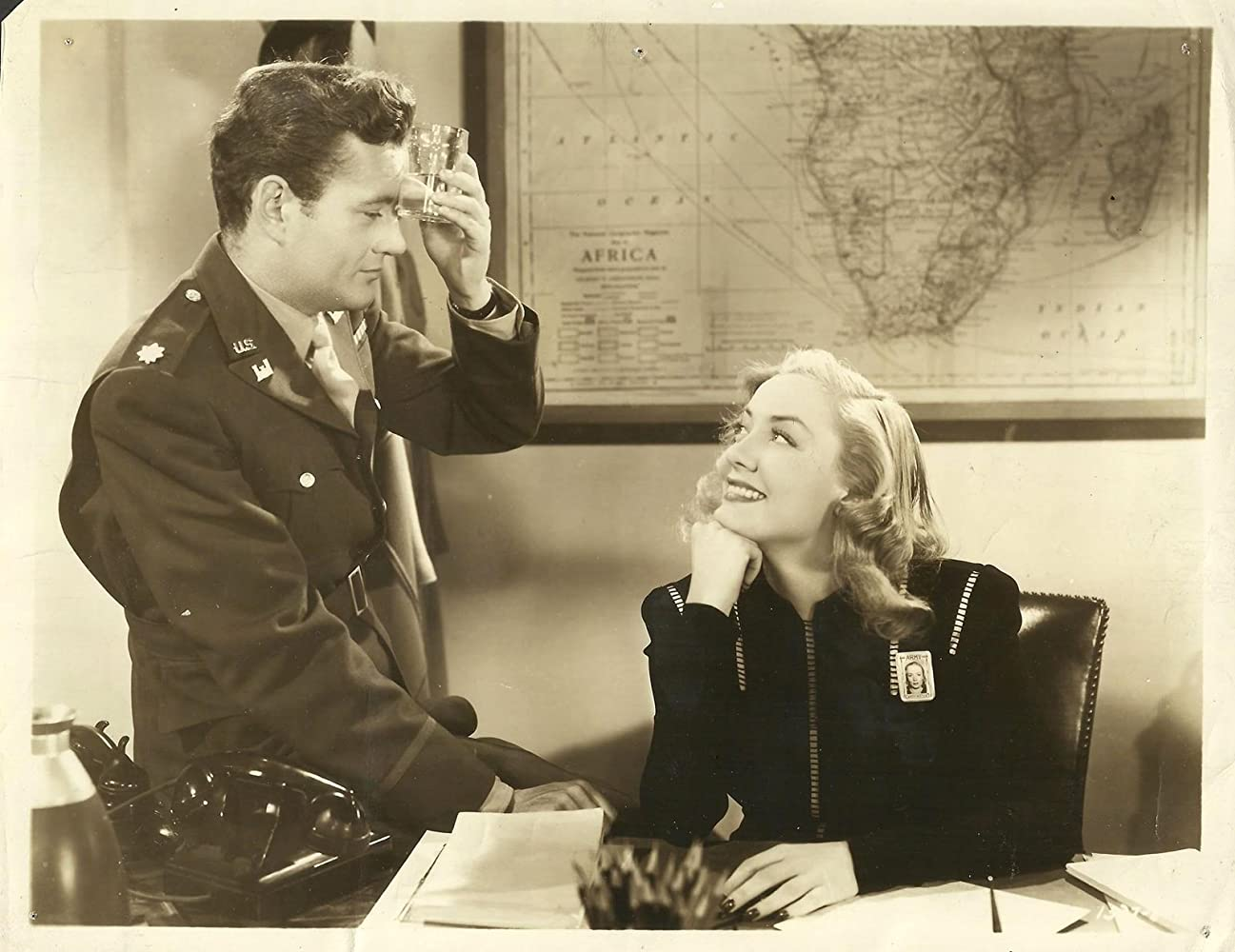 Audrey Totter and Robert Walker in The Beginning or the End (1947)